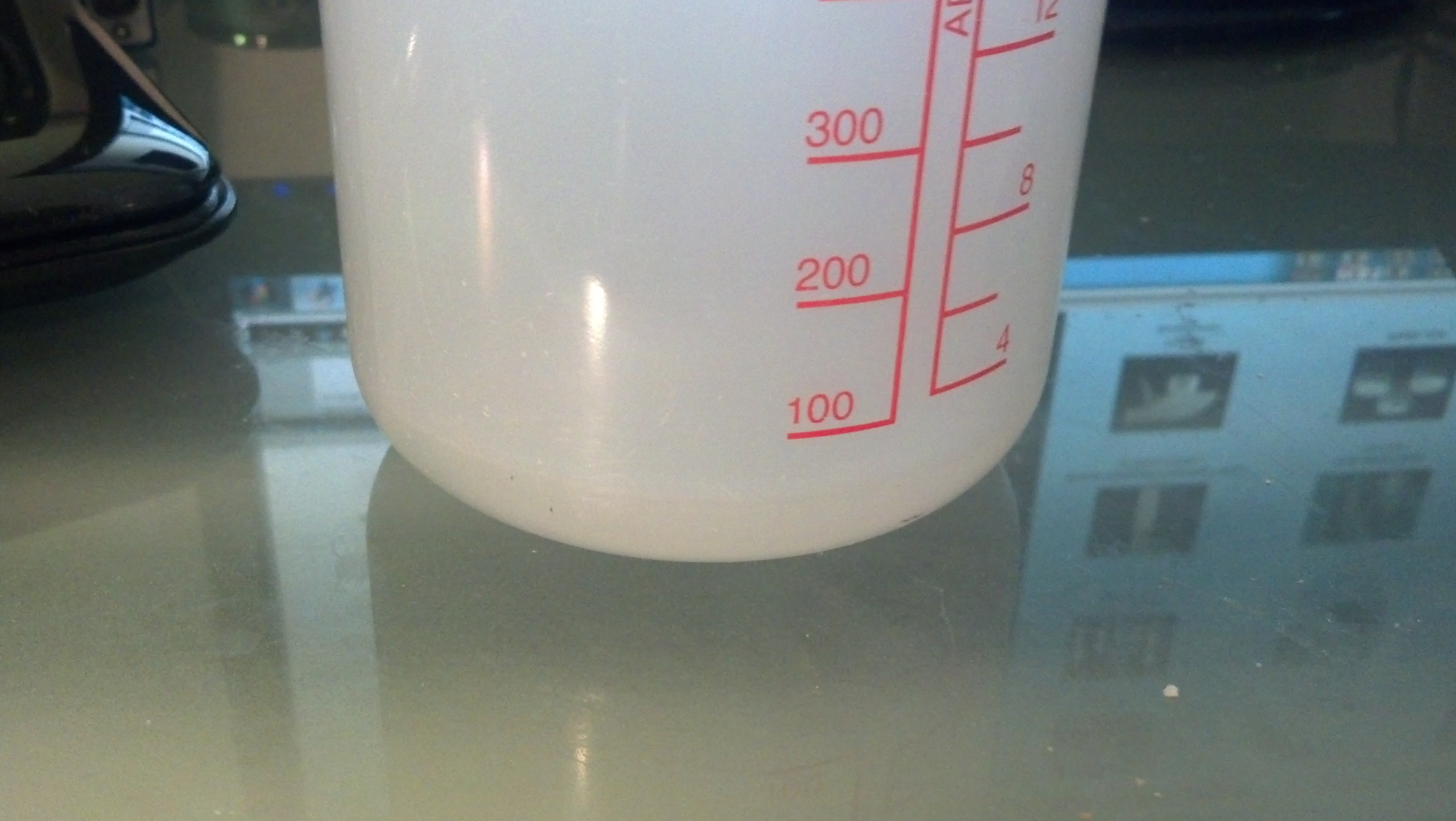 Around 50mL of water